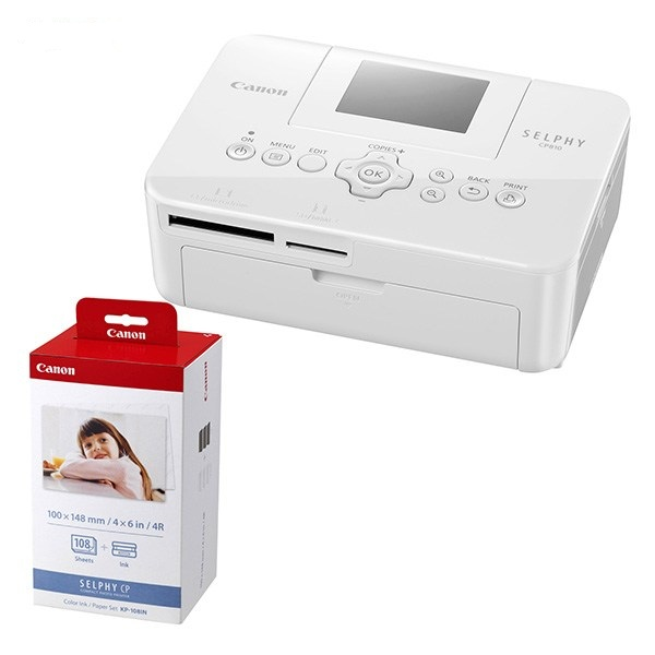 canon selphy cp810 photo printer with kp 108in cartridge selphy cp810. Black Bedroom Furniture Sets. Home Design Ideas